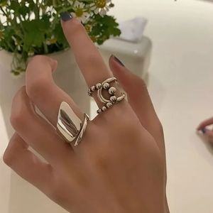 NEW Large 925 Sterling Silver Abstract Band Ring